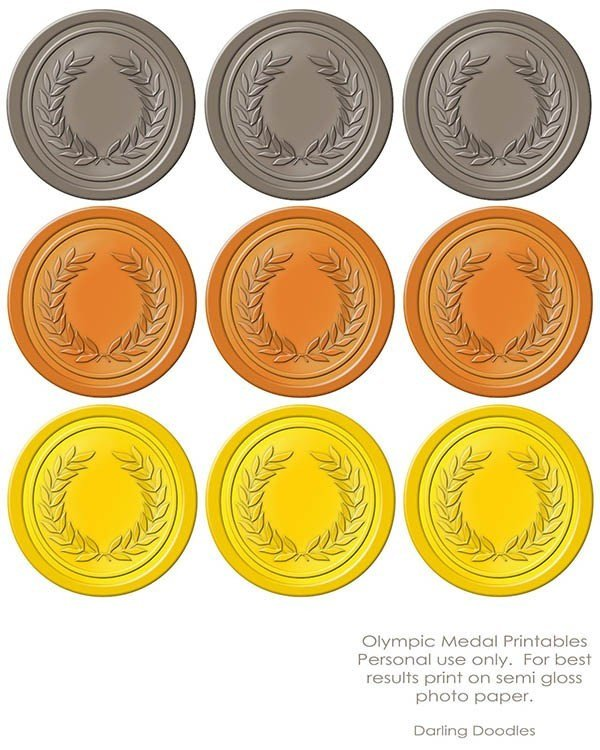 Gold Medal Printable Olympic Printables B Lovely events