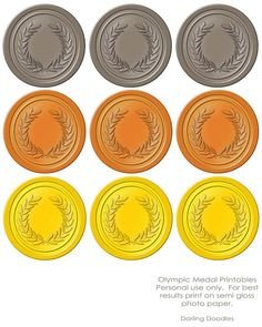 Gold Medal Printable Printable Gold Medals