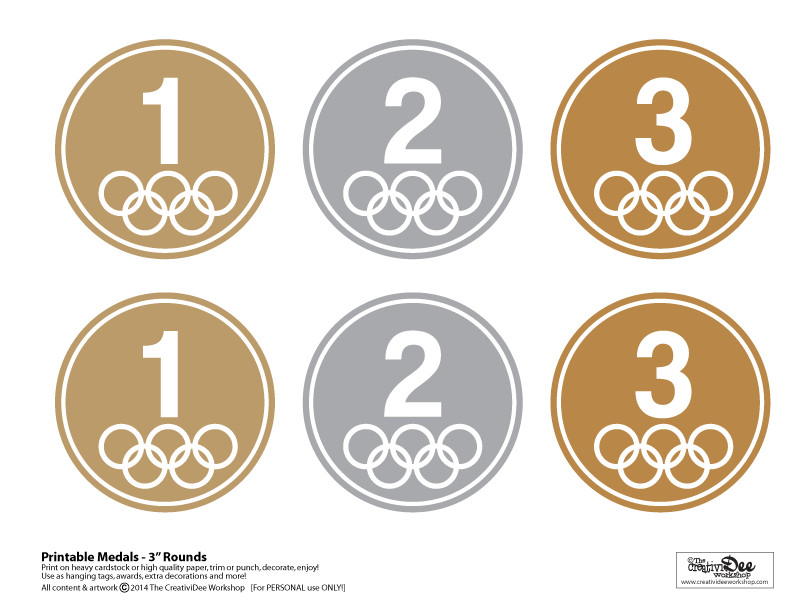 Gold Medal Printable the Creatividee Workshop Blog the Creatividee Workshop