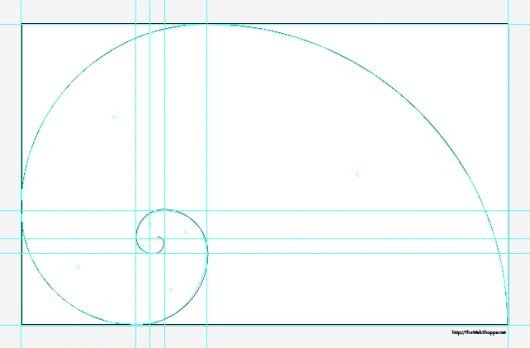 Golden Ratio Design Template Divine Proportion Golden Spiral Fibonacci Template