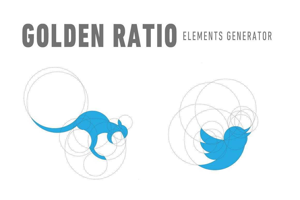 Golden Ratio Design Template Golden Ratio Elements Generator Logo Templates