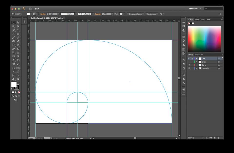 Golden Ratio Design Template Golden Ratio Illustrator Template