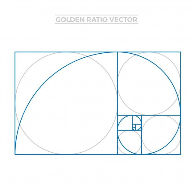 Golden Ratio Design Template Golden Ratio Template Vector