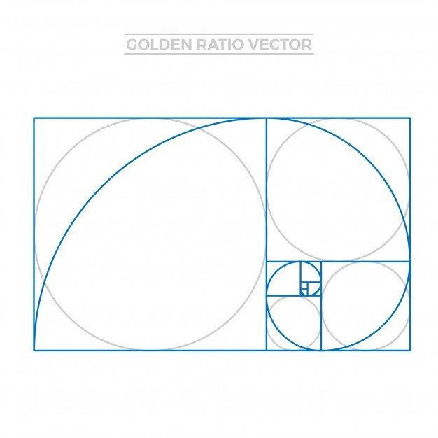 Golden Ratio Design Template Golden Ratio Template Vector