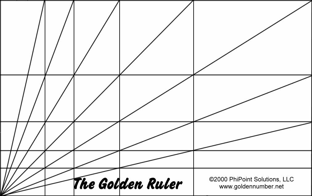 "Golden Ratio Design Template the ""golden Ruler"" Grid Used to Find and Illustrate Phi"