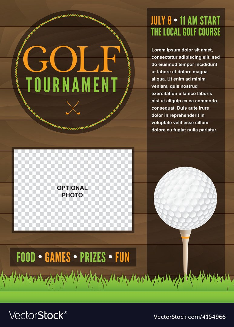 Golf tournament Flyer Template Golf tournament Flyer Template Royalty Free Vector Image