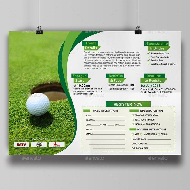 Golf tournament Flyer Templates 28 Best Golf tournament Images On Pinterest