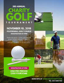 Golf tournament Flyer Templates Customize 200 Golf Poster Templates