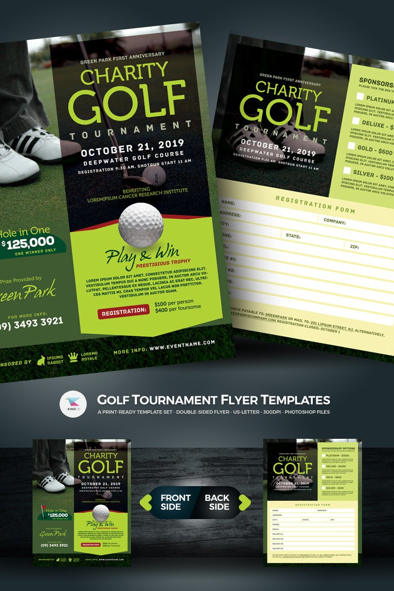 Golf tournament Flyer Templates Golf tournament Flyer Psd Template