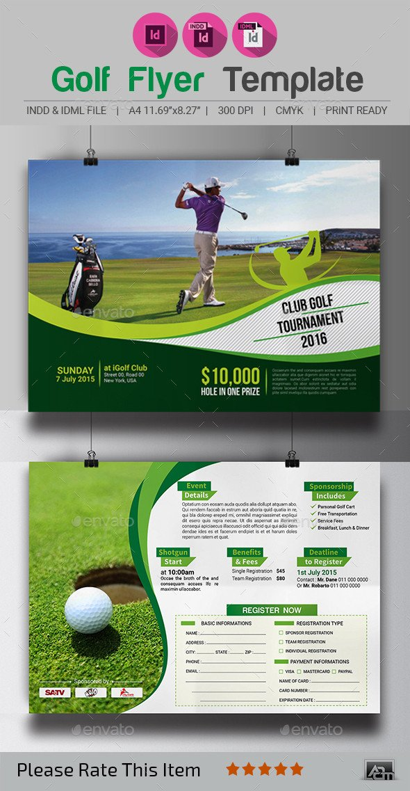 Golf tournament Flyer Templates Golf tournament Flyer Template by Aam360