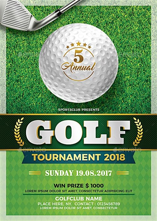 Golf tournament Flyer Templates Golf tournament Flyer Template Flyer for Sport events
