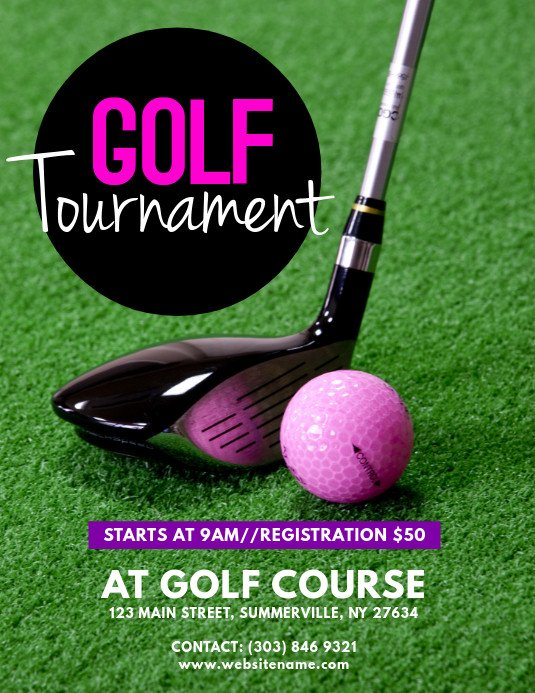 Golf tournament Flyer Templates Golf tournament Flyer Template
