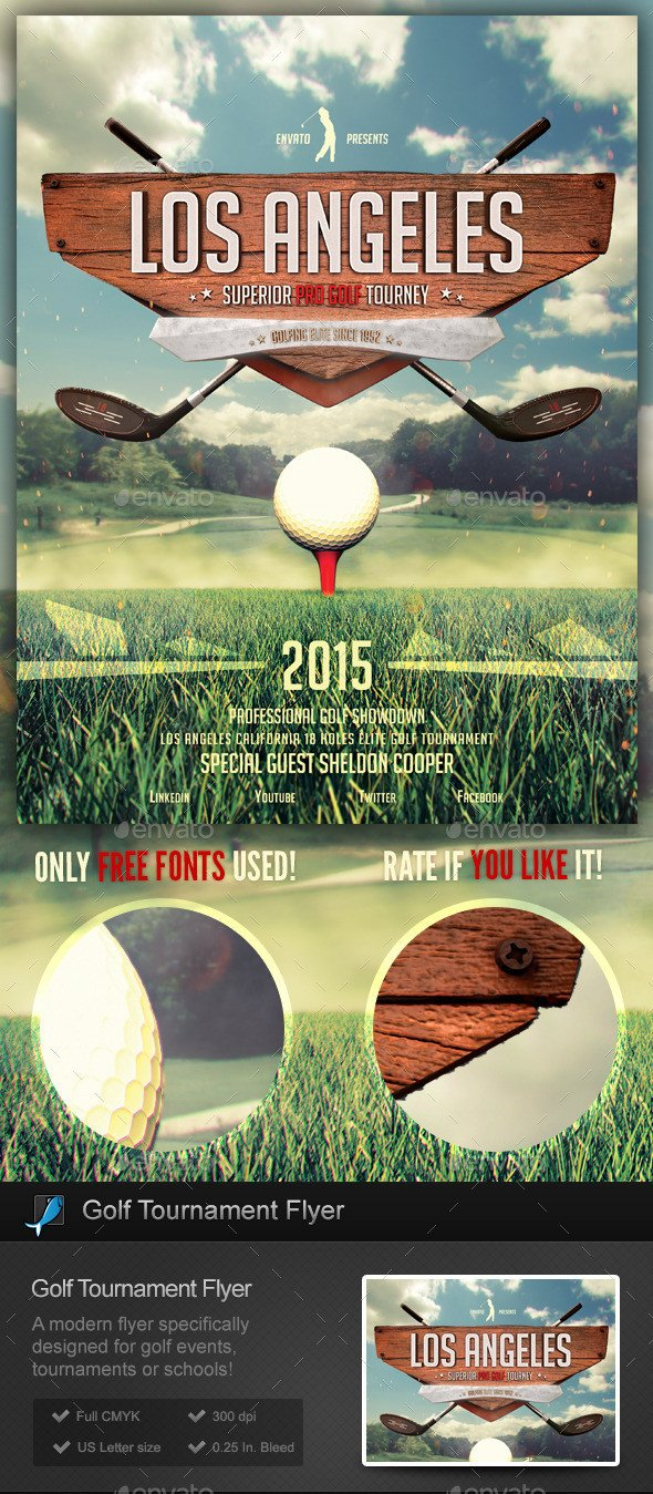 Golf tournament Flyer Templates Golf tournament School Flyer Template by Stormdesigns