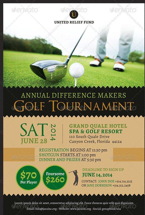 Golf tournament Flyers Template 48 Fundraiser Flyer Templates Psd Eps Ai Word