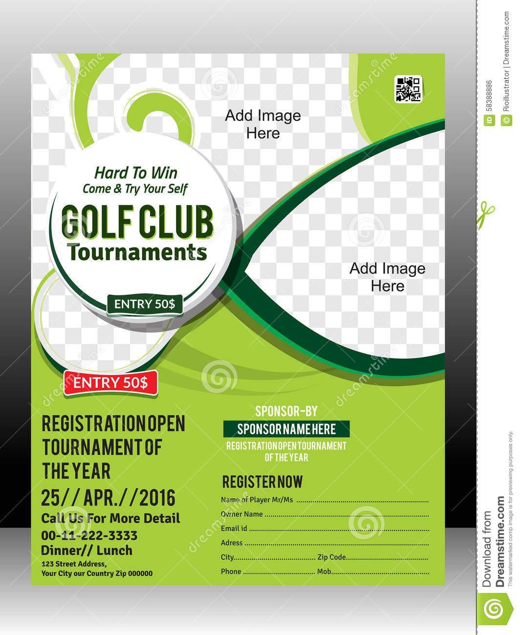 Golf tournament Flyers Template Free Golf tournament Flyer Template