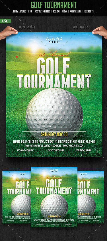 Golf tournament Flyers Template Golf tournament Flyer by Creativeartx