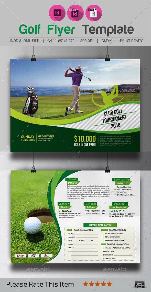 Golf tournament Flyers Template Golf tournament Flyer Template by Aam360