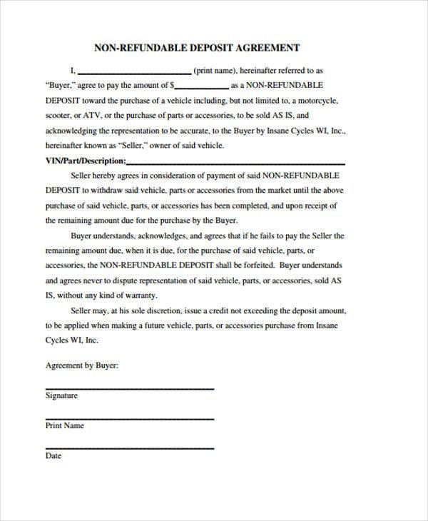 Good Faith Contract Template Good Faith Deposit Agreement form