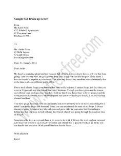 Goodbye Break Up Letter 1000 Images About Sample Break Up Letter On Pinterest