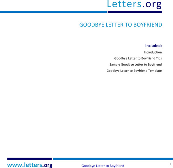 Goodbye Break Up Letter Download Goodbye Break Up Letter for Free