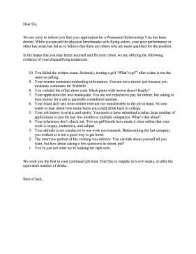 Goodbye Break Up Letter Funny Breakup with Boyfriend Letter