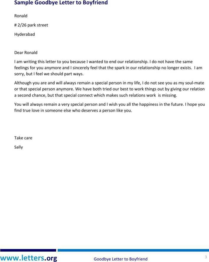 Goodbye Break Up Letter Goodbye Break Up Letter