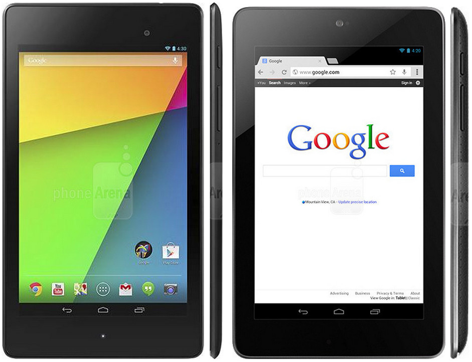 Google Cardboard for Nexus 7 Tablets Break the 320ppi Barrier New Vs Old Google Nexus