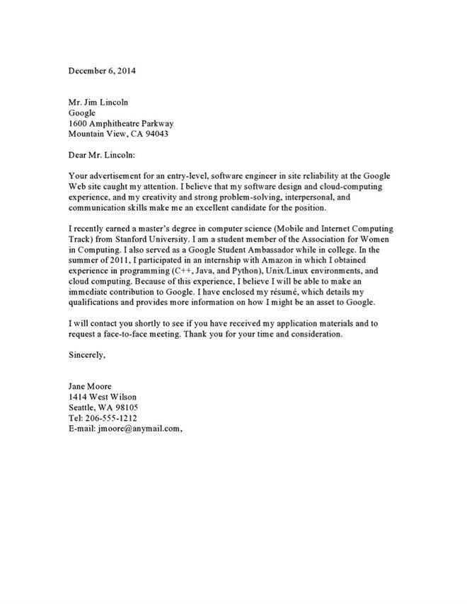 Google Cover Letter Template Sample Cover Letter to A Google Recruiter Vault Blogs