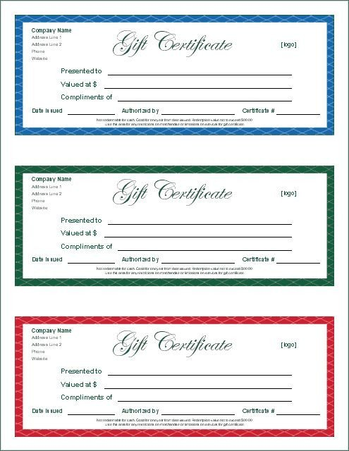 Google Doc Certificate Template Gift Certificate Template Google Docs