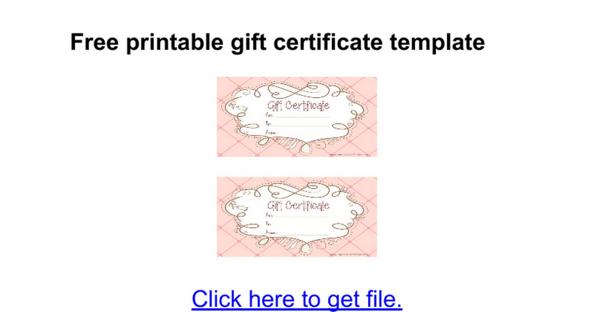 Google Docs Certificate Template Gift Certificate Template Google Docs