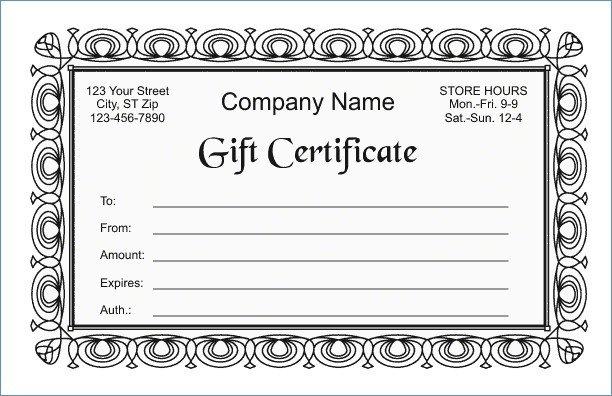 Google Docs Certificate Template Google Docs Gift Certificate Template