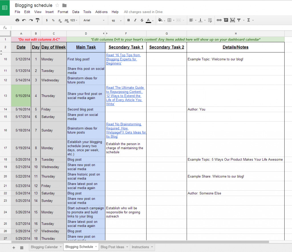 Google Docs Employee Schedule Template Google Docs Schedule Spreadsheet
