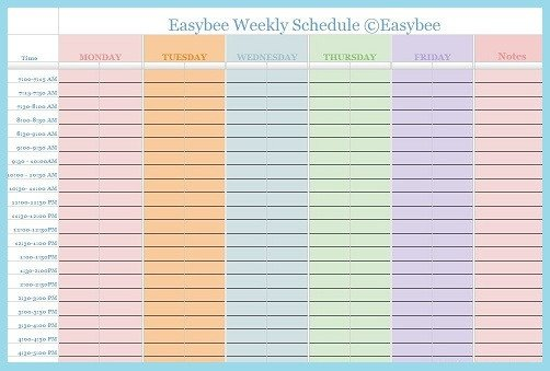 Google Docs Employee Schedule Template Weekly Schedule Template Google Docs