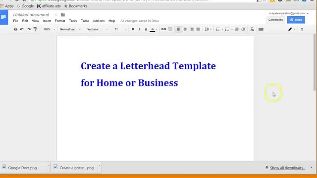 Google Docs Letterhead Template Create Letterhead Layout with Google Docs