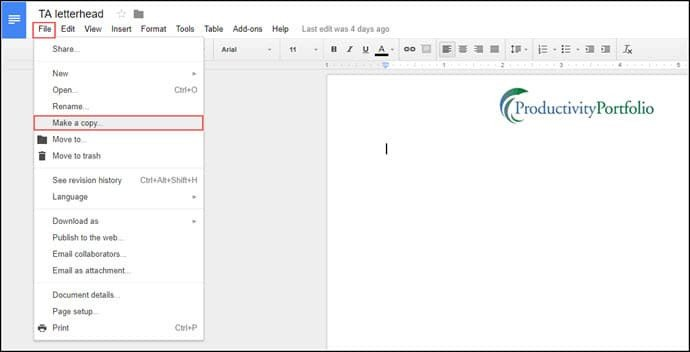 Google Docs Letterhead Template Easy Ways to Make A Google Docs Letterhead Template