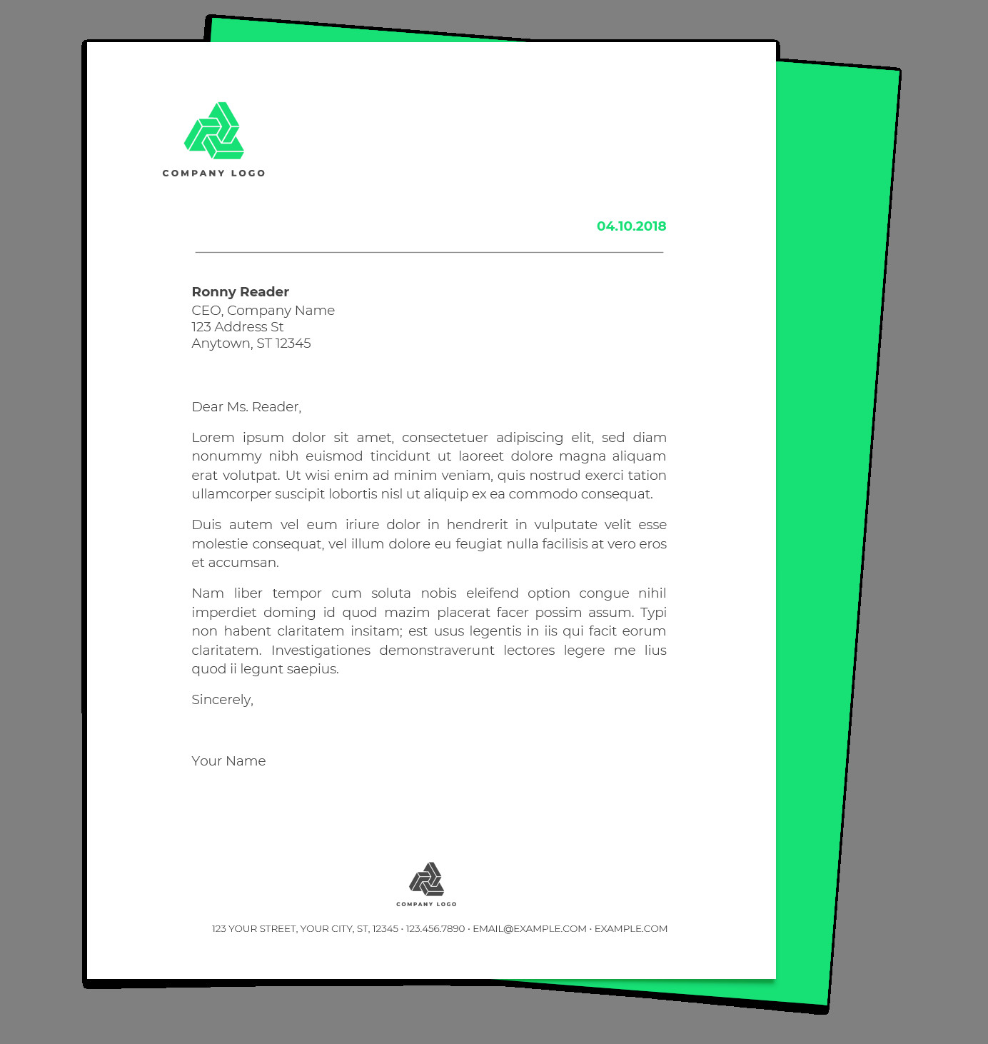 Google Docs Letterhead Template Free Letterhead Templates for Google Docs and Word