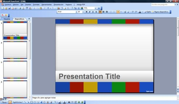 Google Docs Powerpoint Templates Colors Of Google Powerpoint Template