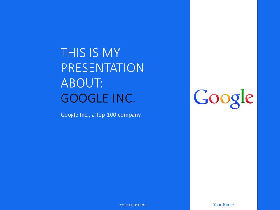 Google Docs Powerpoint Templates Google Inc Powerpoint Template Blue Presentationgo