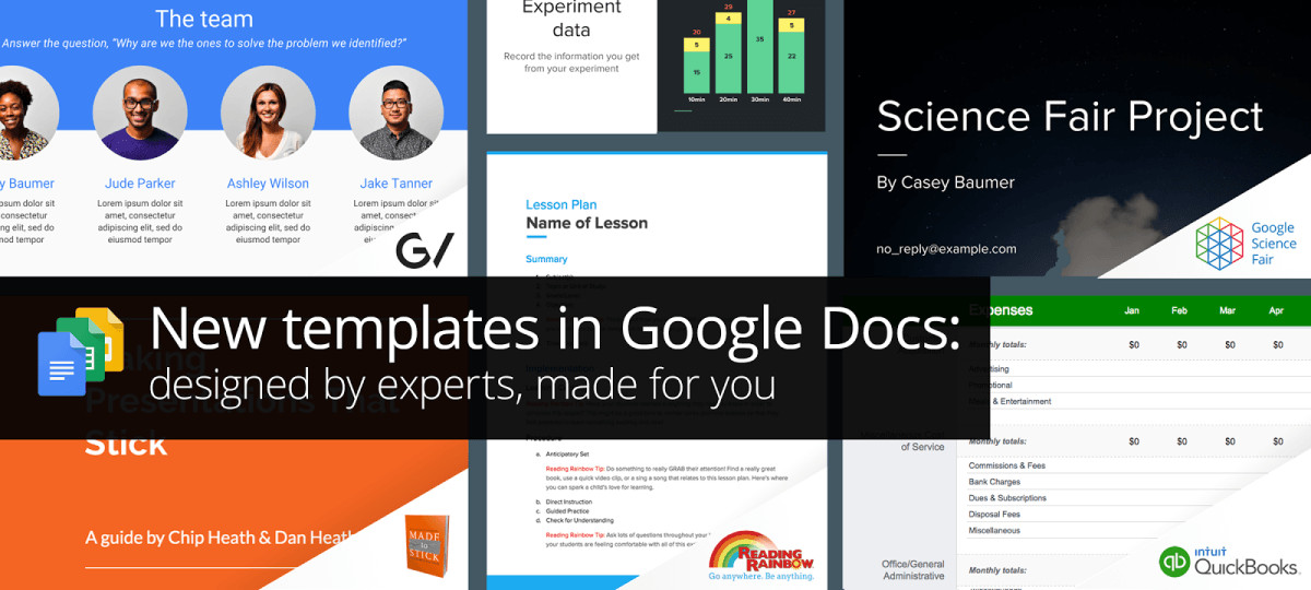 Google Docs Powerpoint Templates Google Introduces Docs Templates Designed by Experts