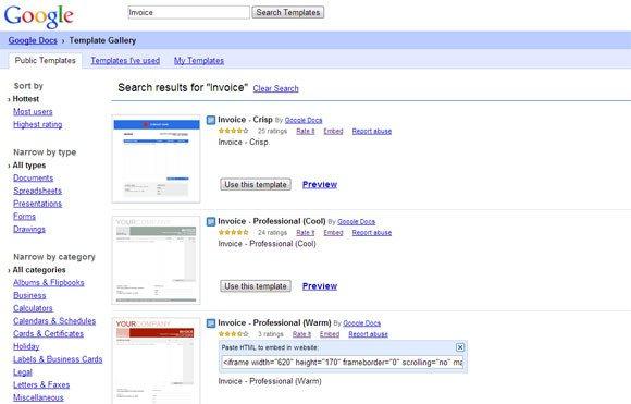 Google Docs Powerpoint Templates Warm Professional Invoice for Google Docs