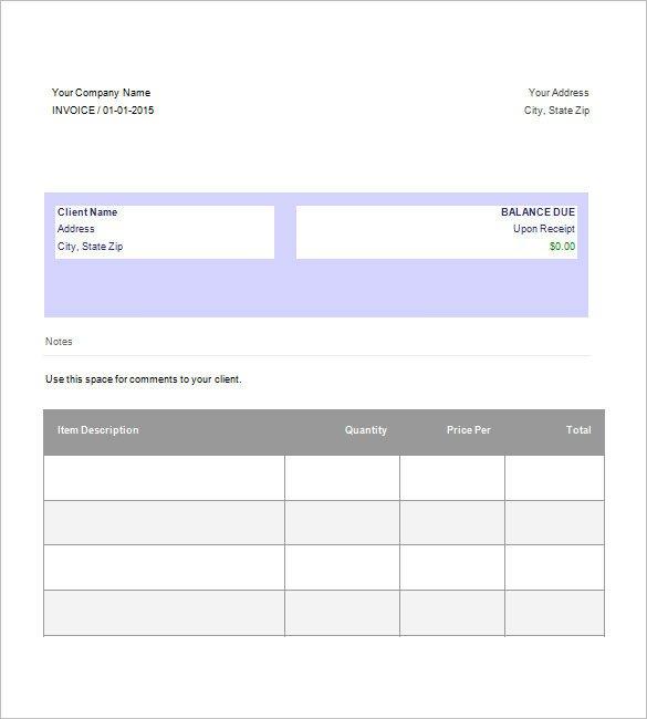 Google Docs Templates Invoice Download Invoice Template Google Docs