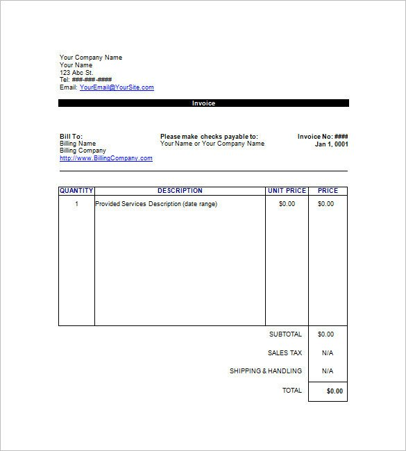 Google Docs Templates Invoice Google Invoice Template 25 Free Word Excel Pdf format
