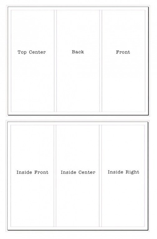 Google Docs Trifold Template Blank Tri Fold Brochure Template Google Docs