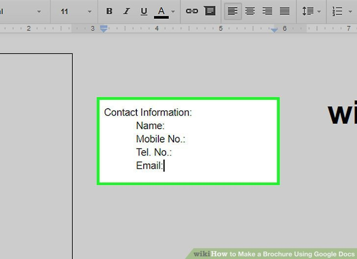 Google Docs Trifold Template How to Make A Brochure Using Google Docs Wikihow