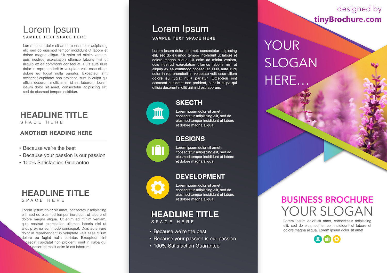 Google Docs Trifold Template Trifold Brochure Template Google Slides