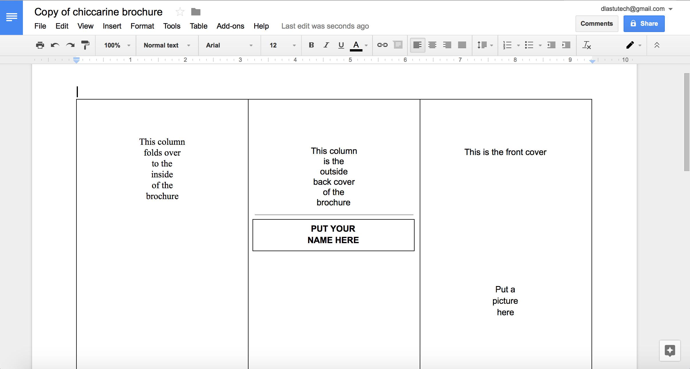 Google Drive Brochure Template Brochure Templates Google Docs