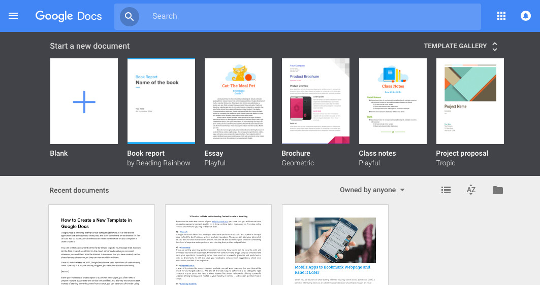 Google Drive Brochure Template Google Docs Template Gallery
