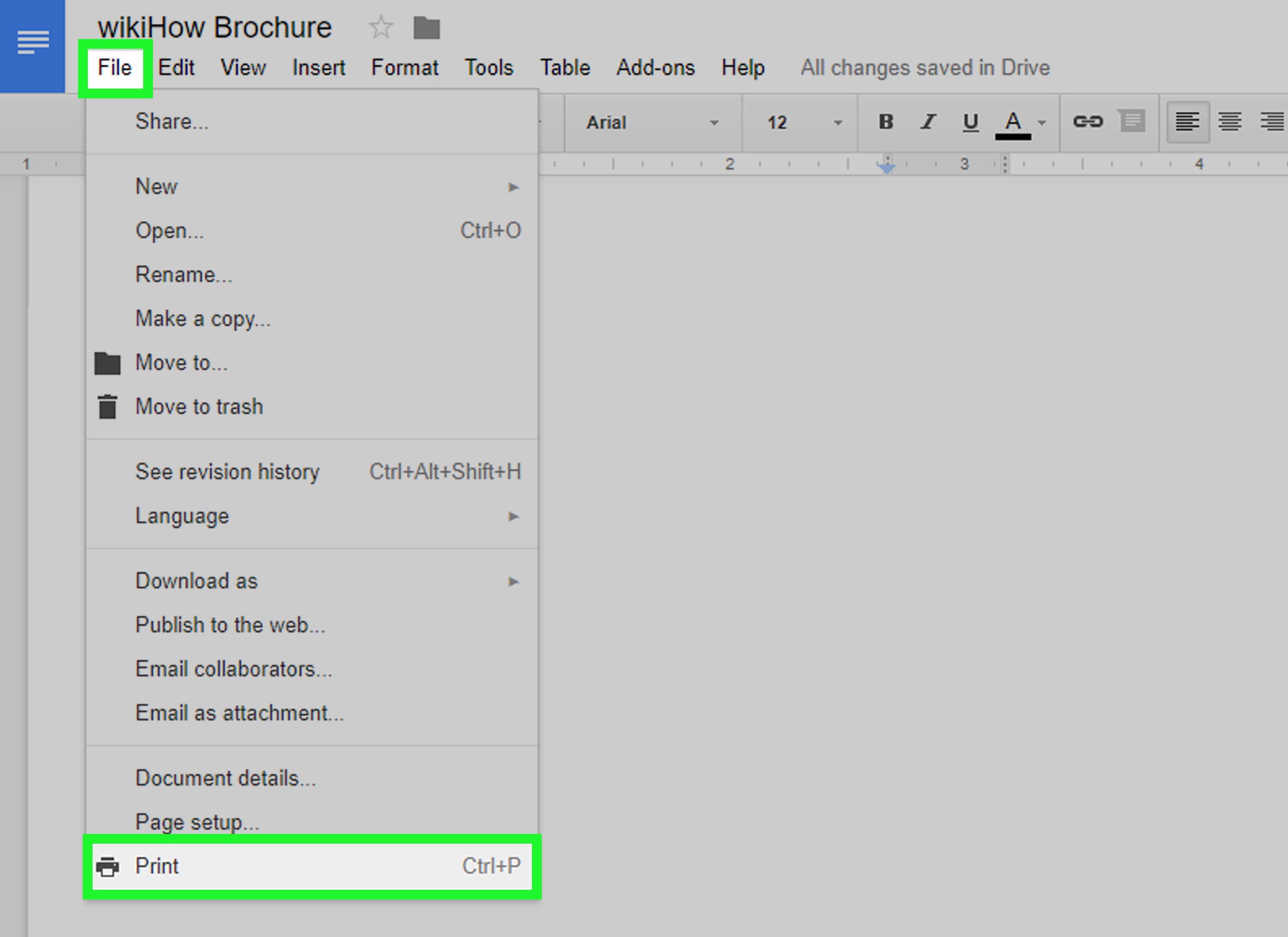 Google Drive Brochure Template How to Make A Brochure Using Google Docs Wikihow