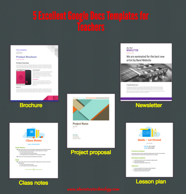 Google Drive Brochure Templates 5 Excellent Google Docs Templates for Teachers
