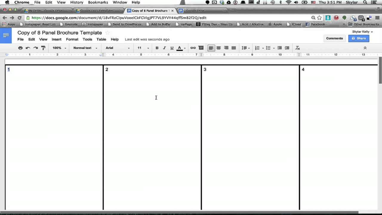 Google Drive Brochure Templates Create A Template In Google Docs Step Google Drive